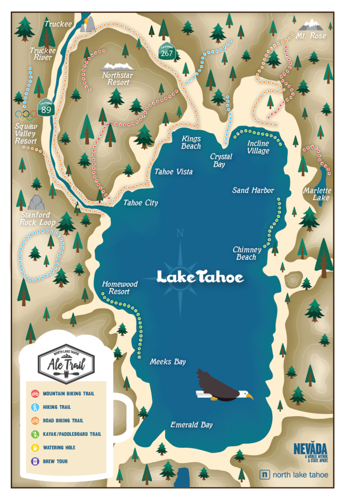 Map Of Lake Tahoe (97+ Images In Collection) Page 1 - Printable Map Of Lake Tahoe