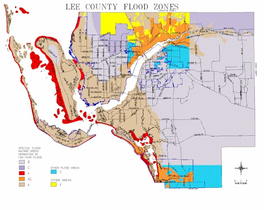 Map Of Lee County Flood Zones - Cape Coral Florida Flood Zone Map
