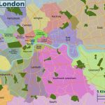Map Of London 32 Boroughs & Neighborhoods   Printable Map Of London Boroughs