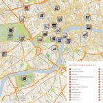Map Of London With Must See Sights And Attractions. Free Printable - Free Printable Tourist Map London