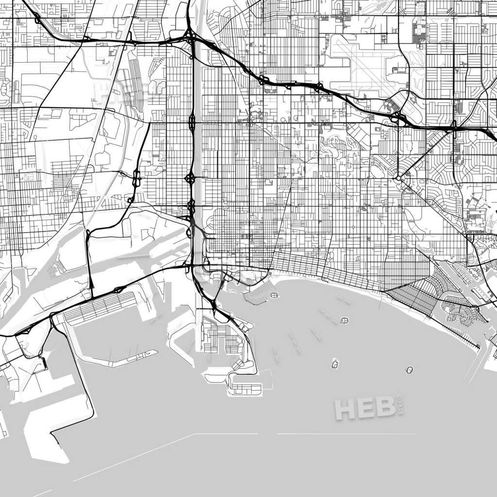 Map Of Long Beach, California | Hebstreits Sketches - Printable Map Of Long Beach Ca