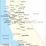 Map Of Major Cities Of California | Maps In 2019 | California Map   Tahoe City California Map
