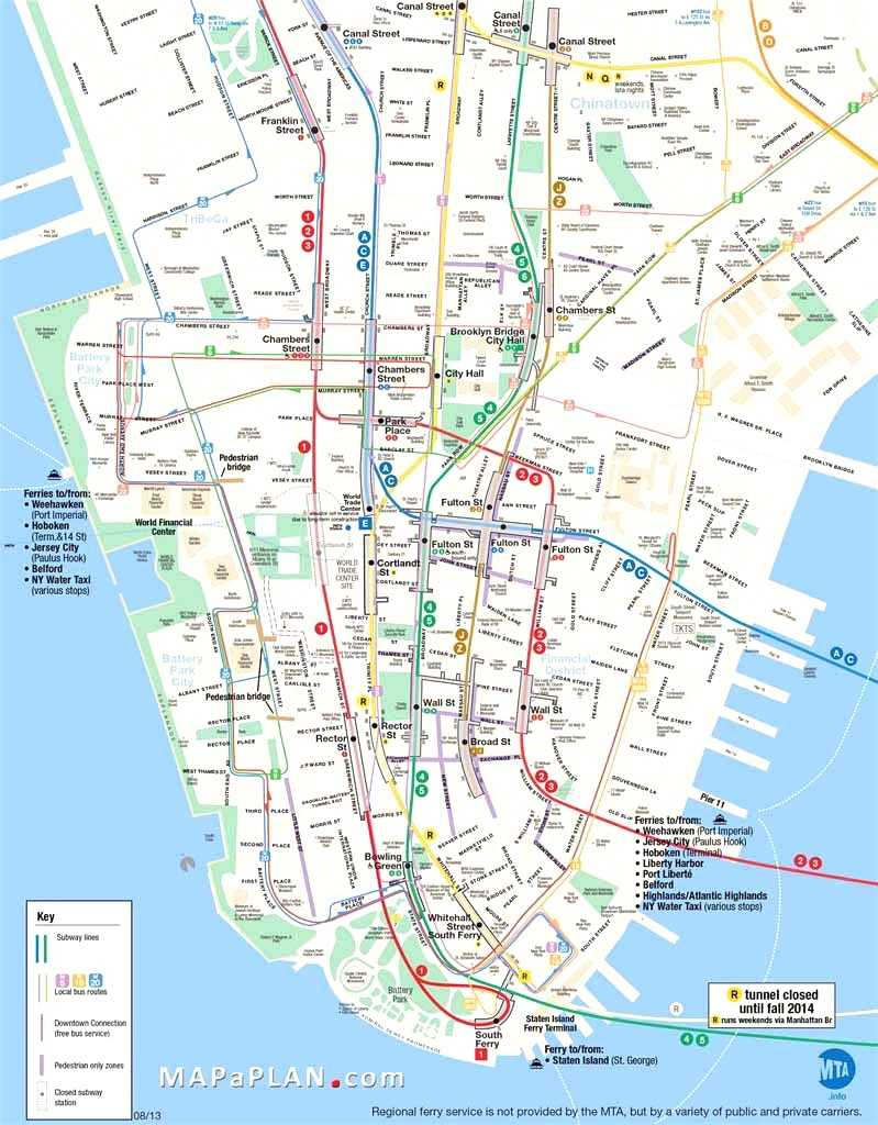Map Of Manhattan Nyc And Travel Information   Download Free Map Of - Printable Map Of Manhattan Nyc