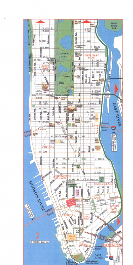 Map Of Manhattan With Streets Download Manhattan Street Map | Travel - Manhattan Road Map Printable