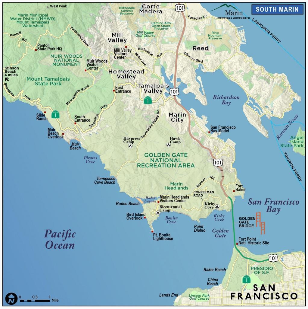 Map Of Marin County California   Secretmuseum - Marin County California Map