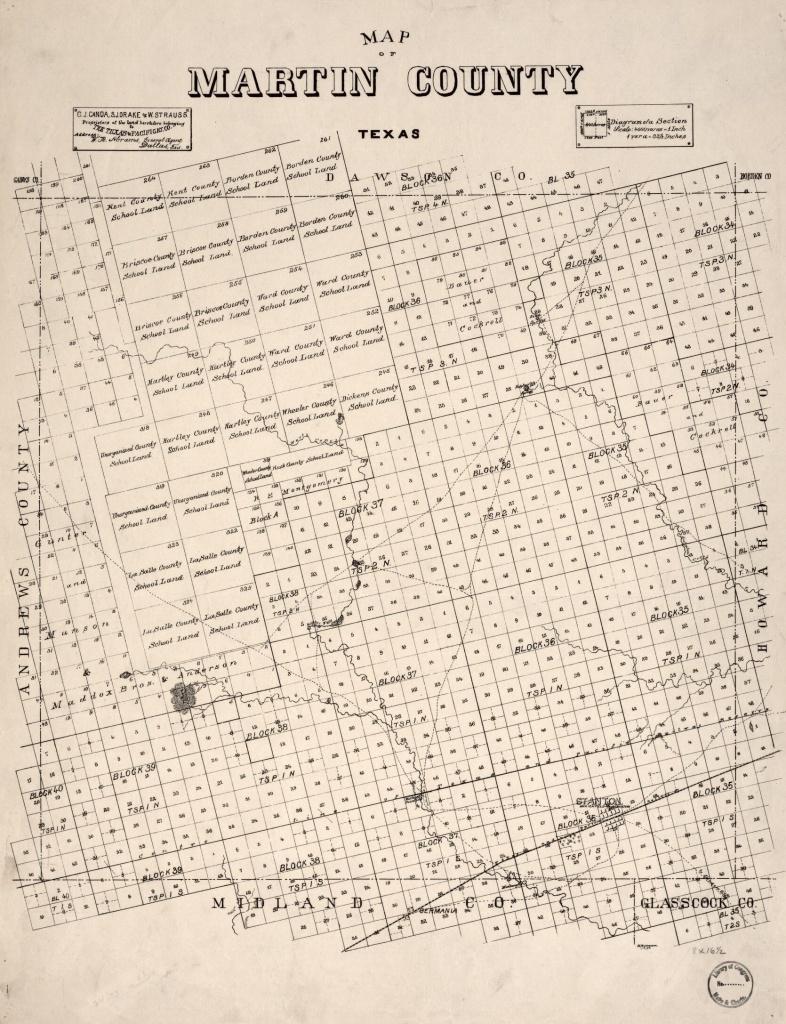 Map Of Martin County, Texas. | Library Of Congress - Martin County Texas Section Map