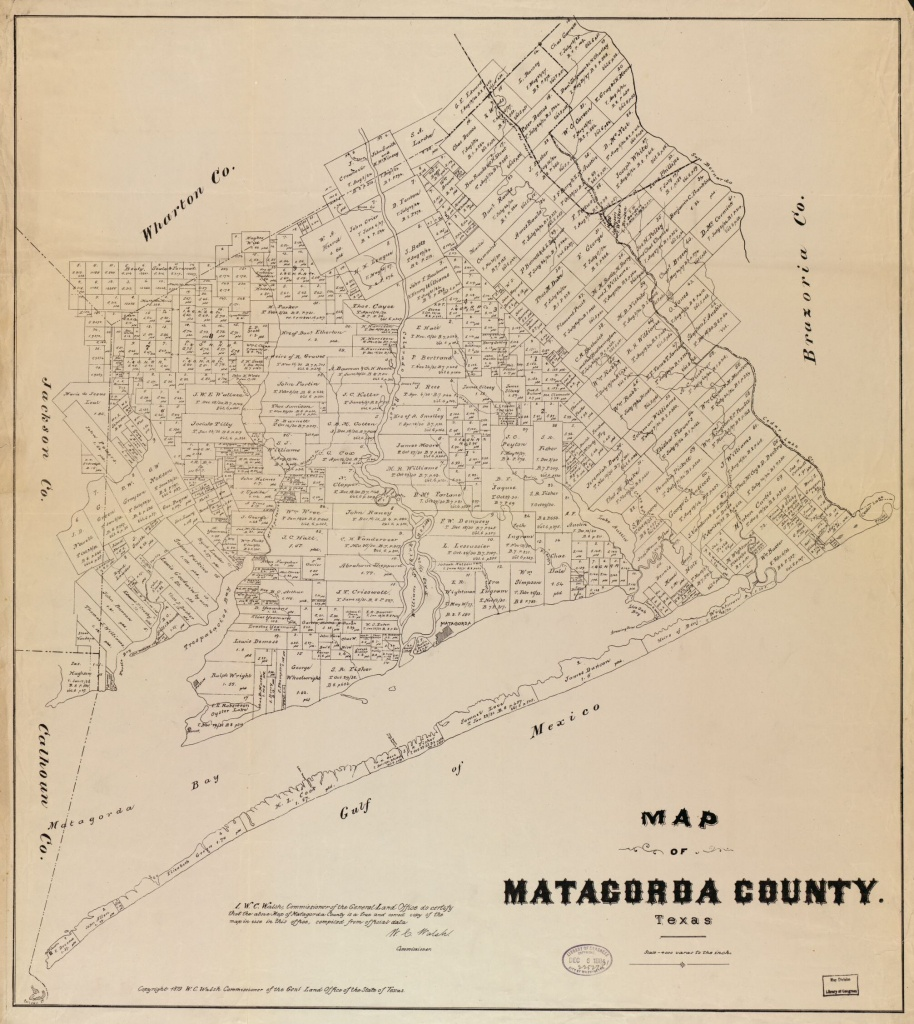 Map Of Matagorda County, Texas   Library Of Congress - Map Of Matagorda County Texas