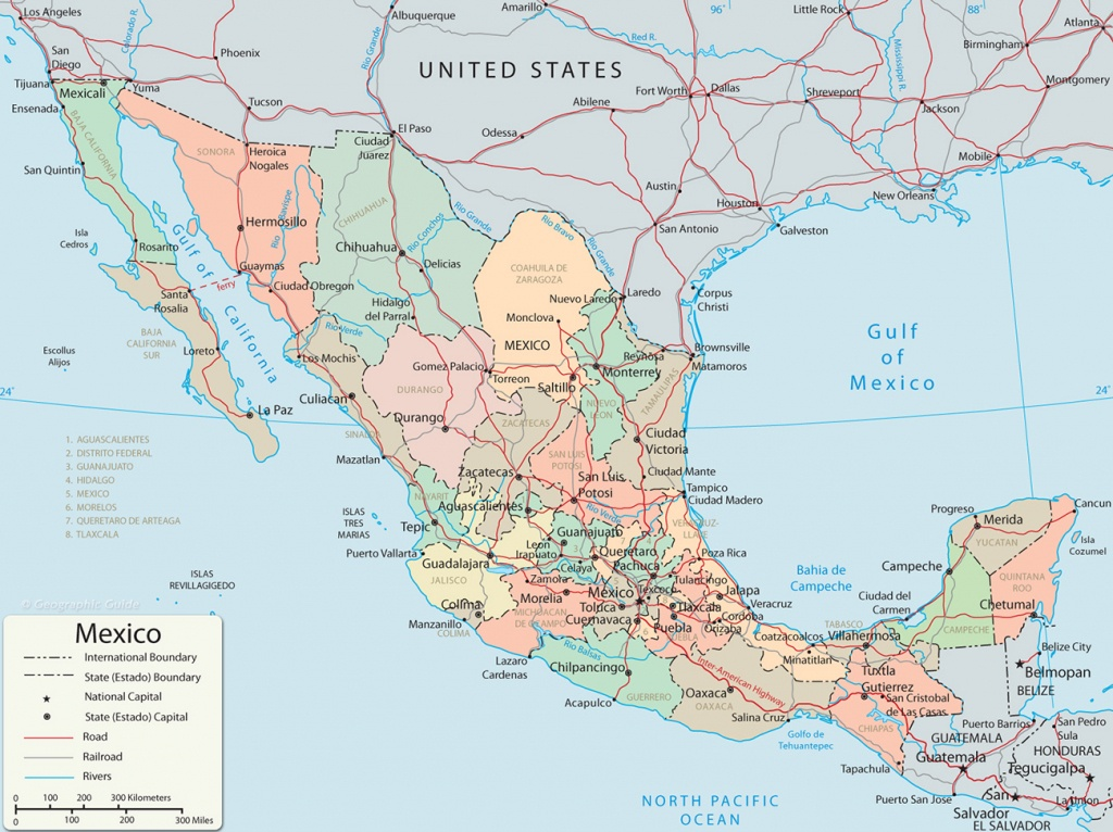 Map Of Mexico - Baja California, Cancun, Cabo San Lucas - Map Of Southern California And Northern Mexico