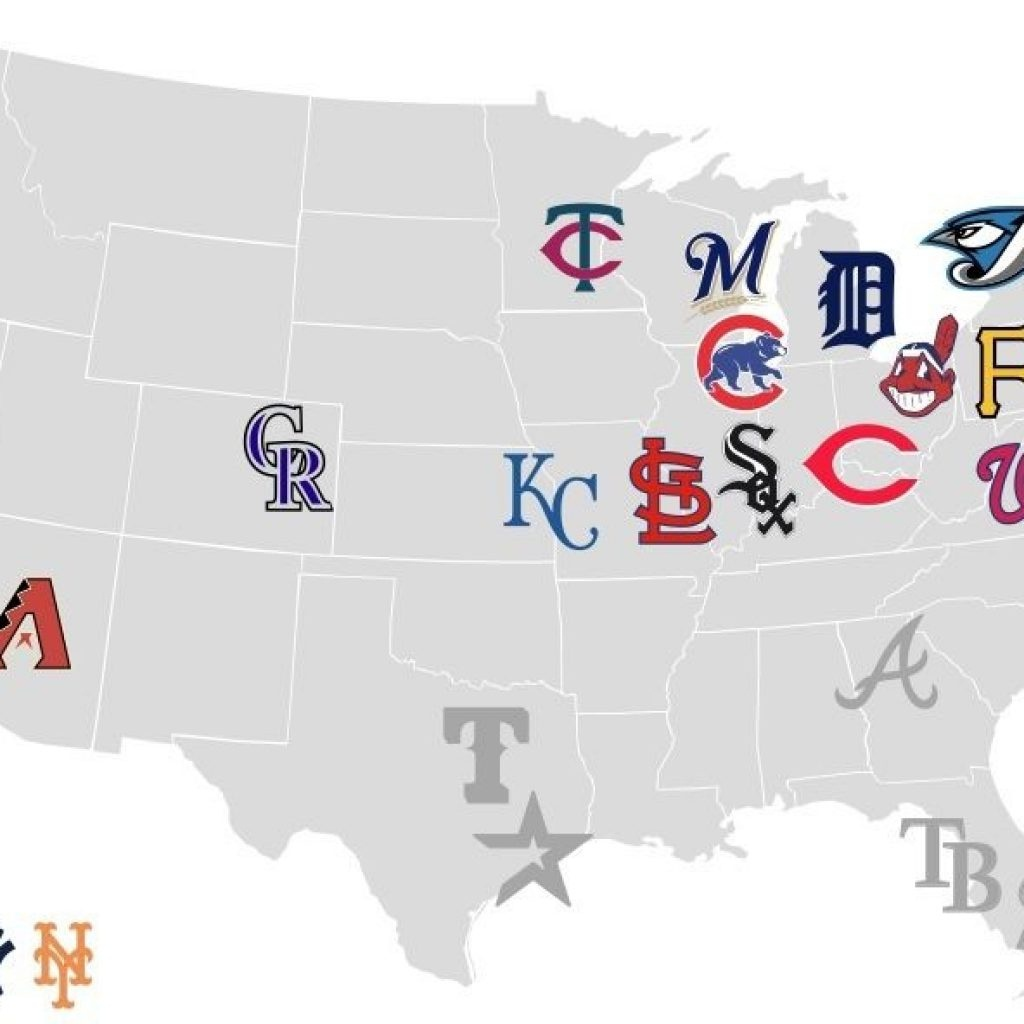 Map Of Mlb Ballparks Attend A Game In Each Fo The 30 Mlb Stadiums - Printable Map Of Mlb Stadiums