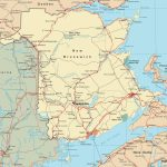 Map Of New Brunswick With Cities And Towns   Printable Map Of New Brunswick
