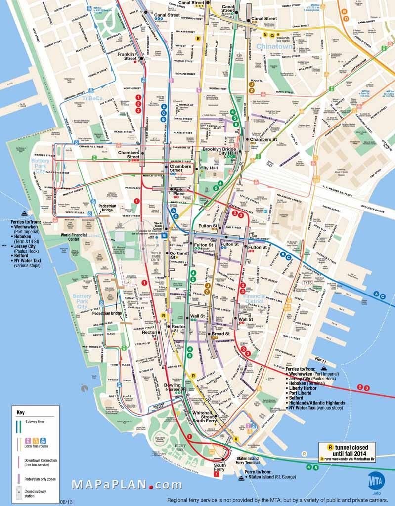 Map Of New York City Attractions Printable Download Map New York - New York City Street Map Printable