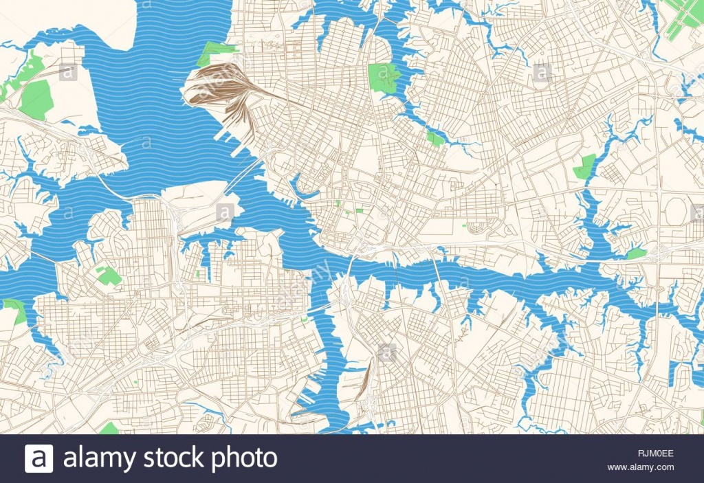 Map Of Norfolk Stock Vector Images - Alamy - Printable Map Of Norfolk Va