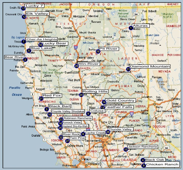 Map Of Northern California Cities