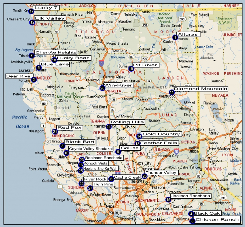 Map Of Northern California Cities And Travel Information   Download - Map Of Northern California Cities