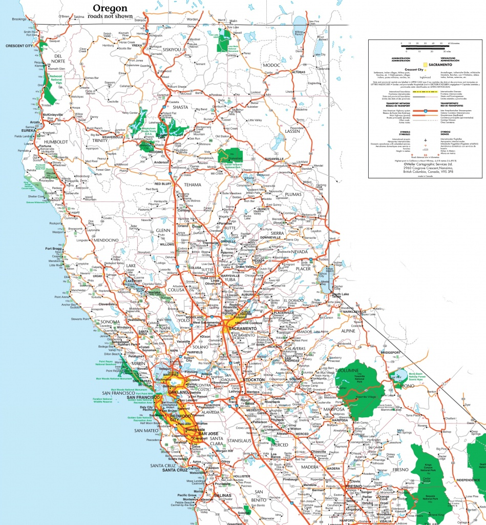 Map Of Northern California - Detailed Map Of Northern California