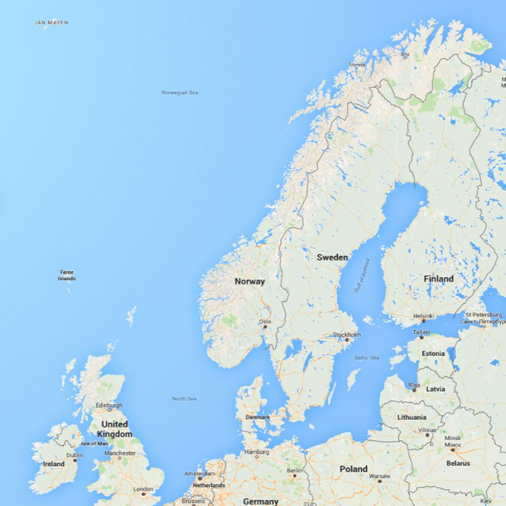 Map Of Norway - Printable Map Of Norway