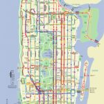 Map Of Nyc Bus: Stations & Lines   Printable Manhattan Bus Map