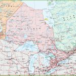 Map Of Ontario With Cities And Towns   Printable Map Of Canada With Cities
