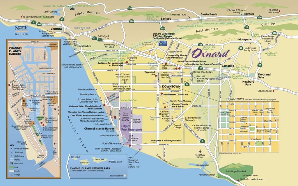 Map Of Oxnard - Find Your Way Around Oxnard And Ventura County - Ventura California Map