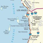 Map Of Pacific Coast Through Southern California. | Southern   Map Of California Coast