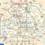 Map Of Paris Bus & Noctilien: Stations & Lines   Map Of Paris Metro Printable