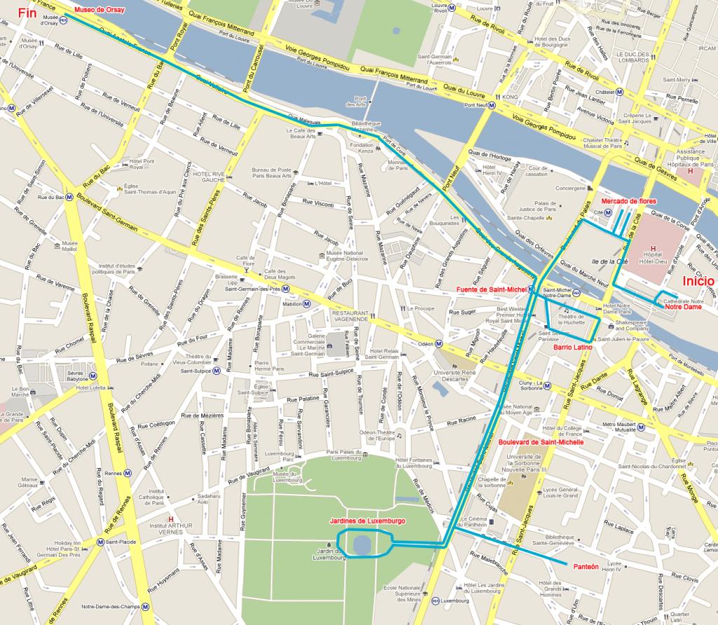 Map Of Paris - Paris Interactive Map - Printable Map Of Paris France