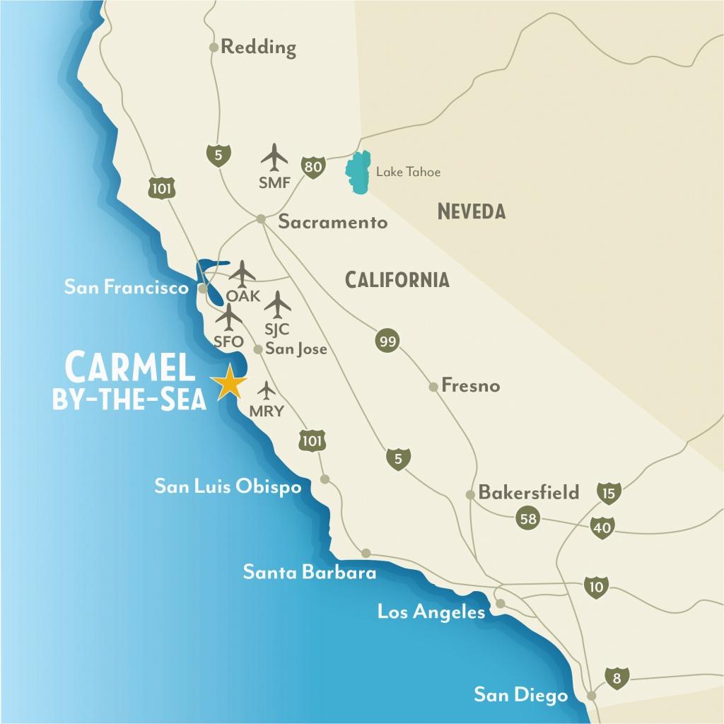 Map Of Pebble Beach California Google Maps Monterey California - Carmel California Map