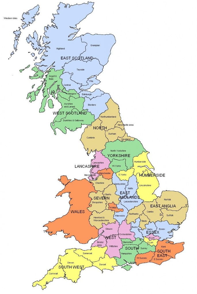Map Of Regions And Counties Of England, Wales, Scotland. I Know Is - Printable Map Of Uk Cities And Counties