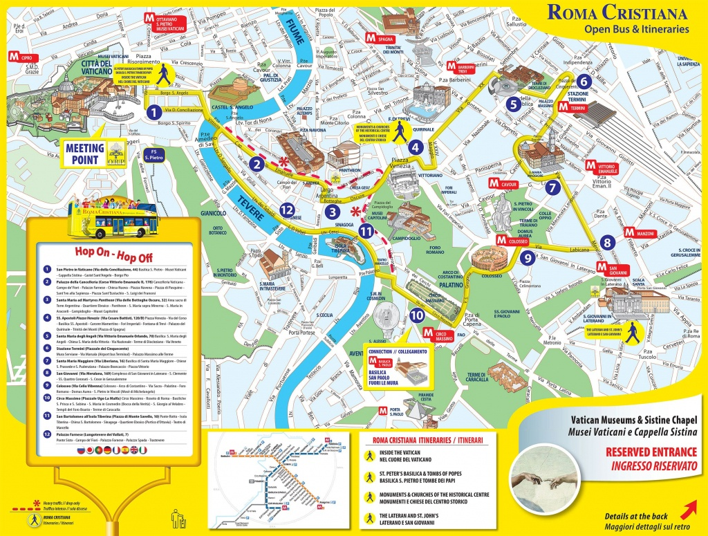 Map Of Rome Tourist Attractions Sightseeing & Tourist Tour : New - Rome Tourist Map Printable