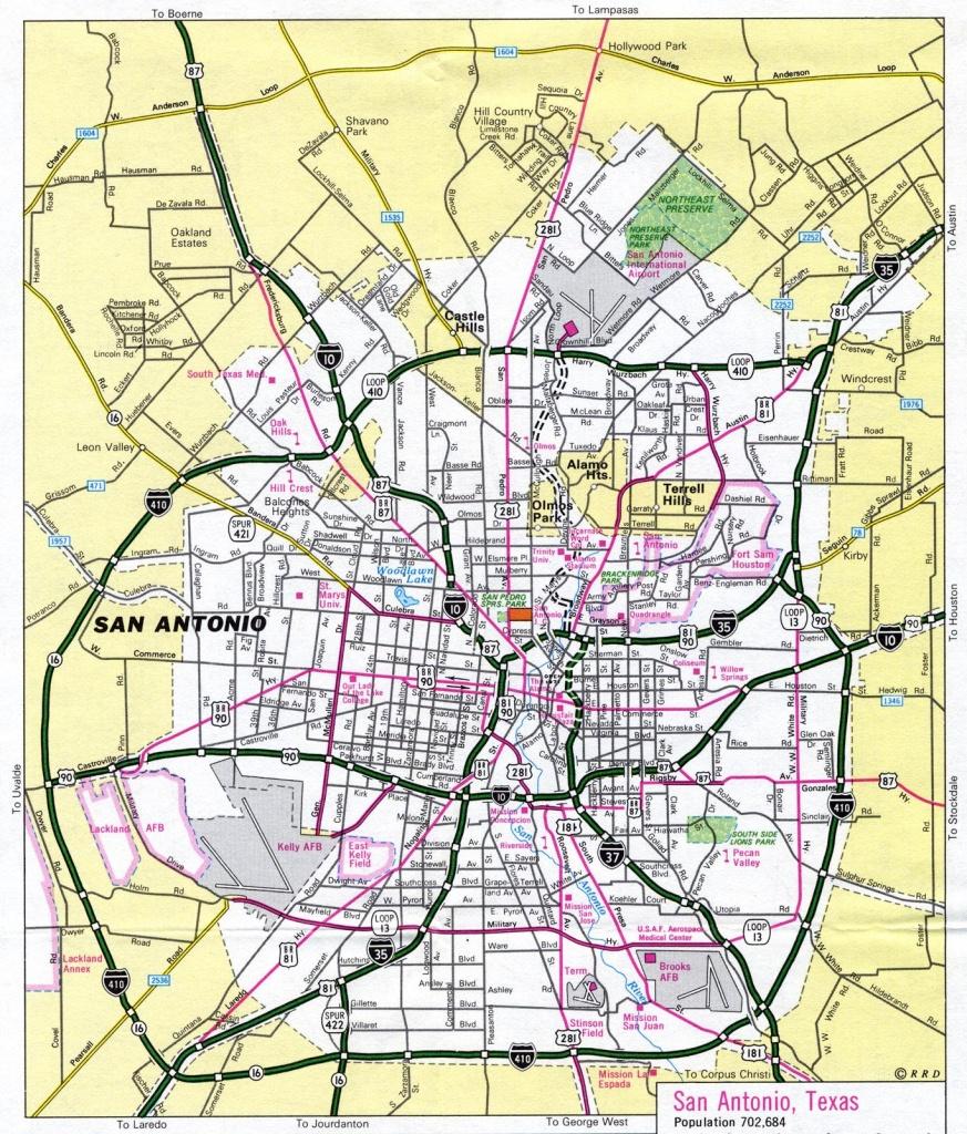 Map Of San Antonio Texas And Surrounding Area And Travel Information - Map Of San Antonio Texas Area
