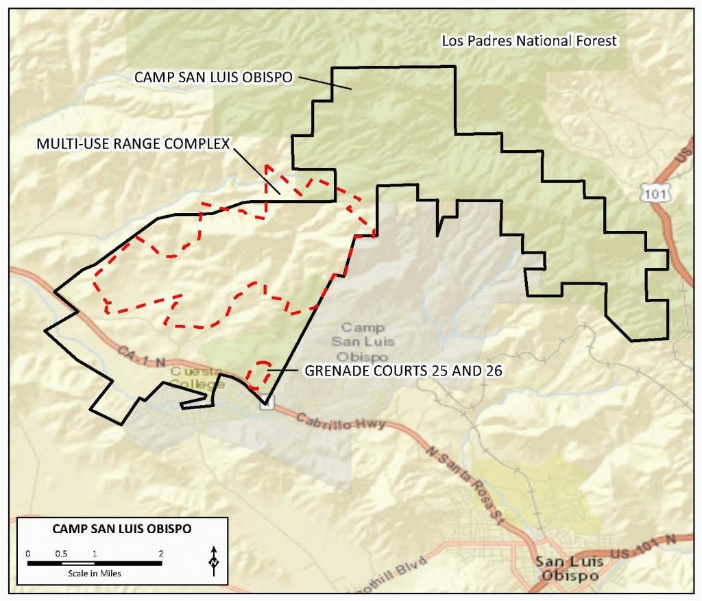 Map Of San Luis Obispo California   Secretmuseum - San Luis Obispo California Map