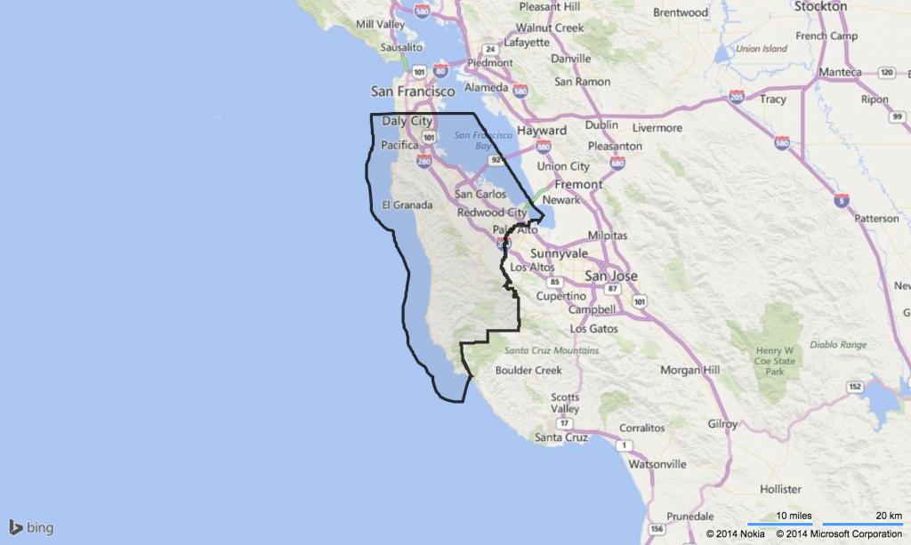 Map Of San Mateo County Ca And Travel Information   Download Free - San Mateo California Map
