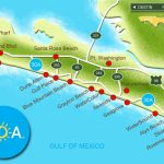 Map Of Scenic Highway 30A/south Walton, Fl Beaches | Florida: The   Map Of South Florida Beaches