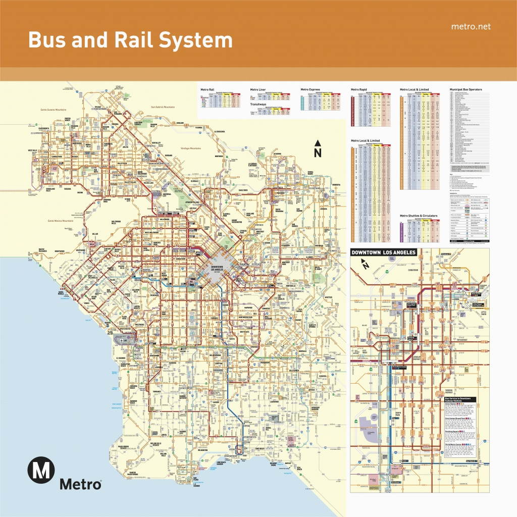 Map Of Silver Lake California June 2016 Bus And Rail System Maps - Silver Lake California Map