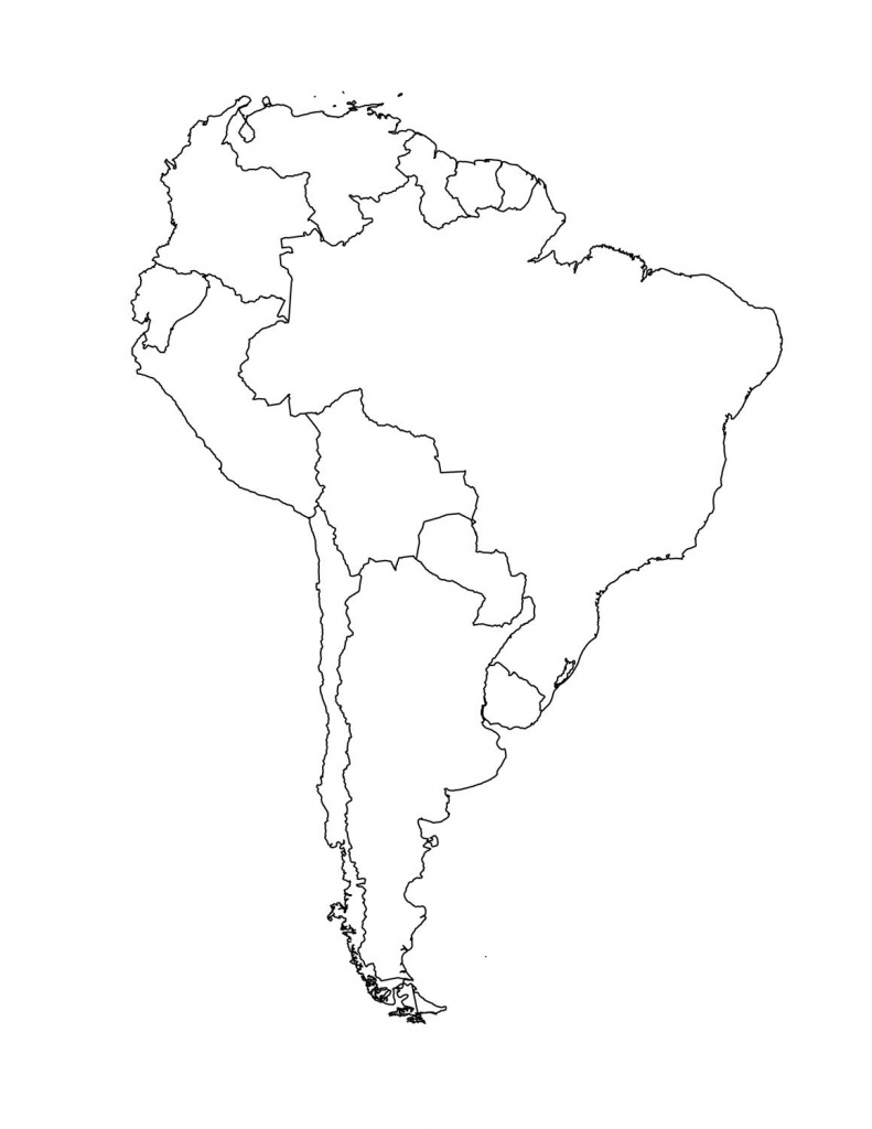 Map Of South American Countries   Occ Shoebox   South America Map - Outline Map Of North America Printable