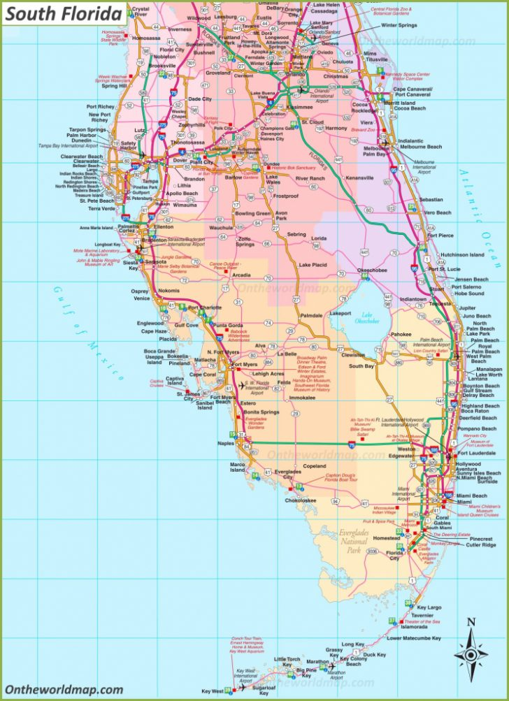 Map Of South Florida Towns