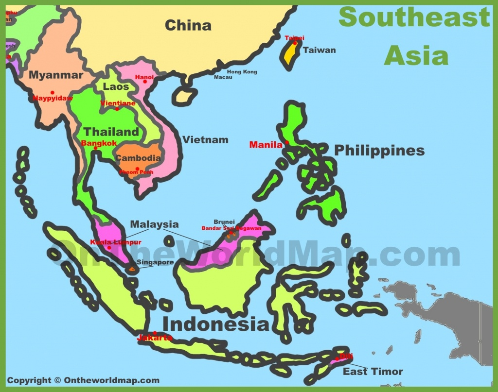 Map Of Southeast Asia (Southeastern Asia) - Printable Map Of Southeast Asia