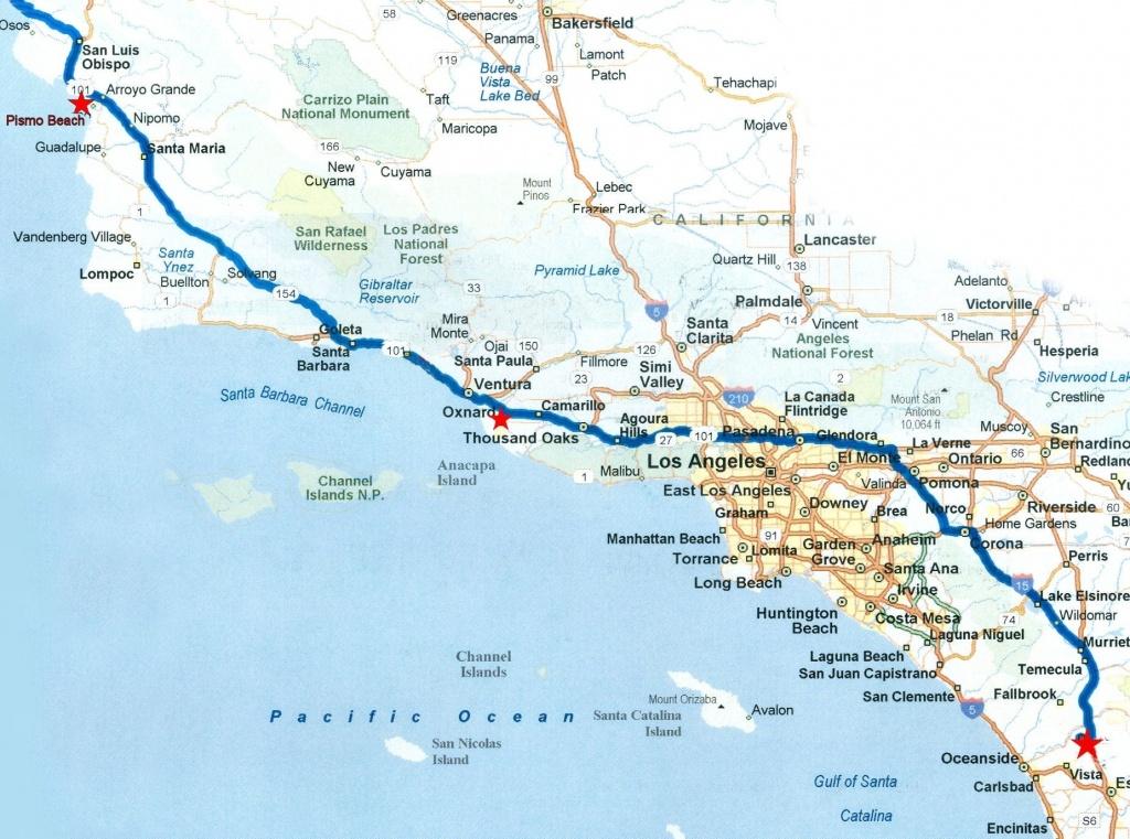 Map Of Southern California Coastal Towns Beautiful Road Map Within - Road Map Of California Coast