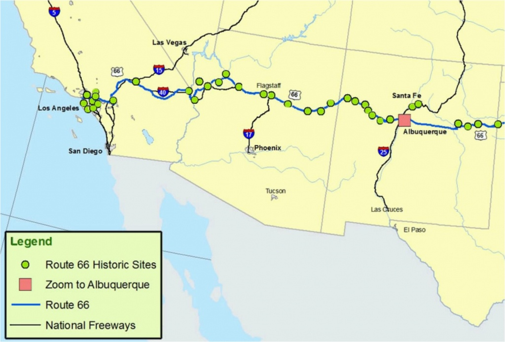 Map Of Southern California Freeway System Maps Of Route 66 Plan Your - Map Of Southern California Freeway System