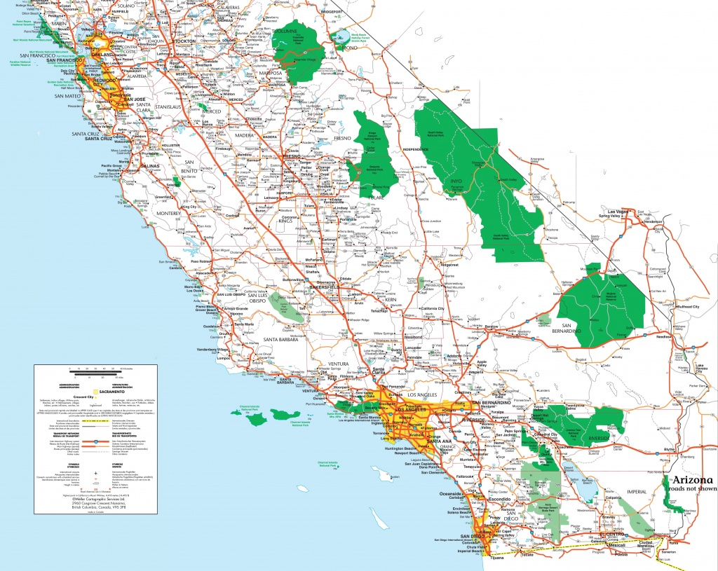 Map Of Southern California - Large Map Of Southern California