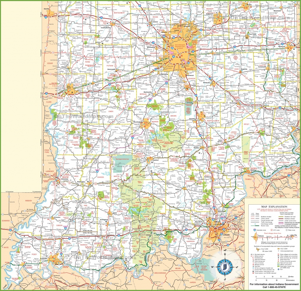 Map Of Southern Indiana - Printable Map Of Indiana