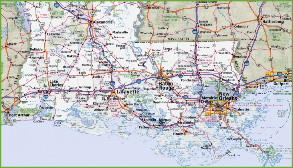 Map Of Southern Louisiana - Printable Map Of Louisiana