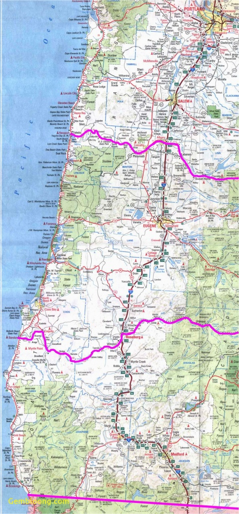 Map Of Southern Oregon And Northern California Map Of Oregon - Map Of Oregon And California
