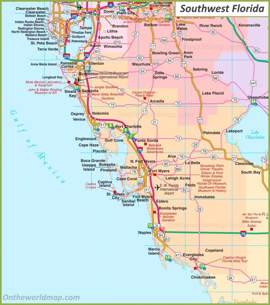 Map Of Southwest Florida - Map Of Southwest Florida