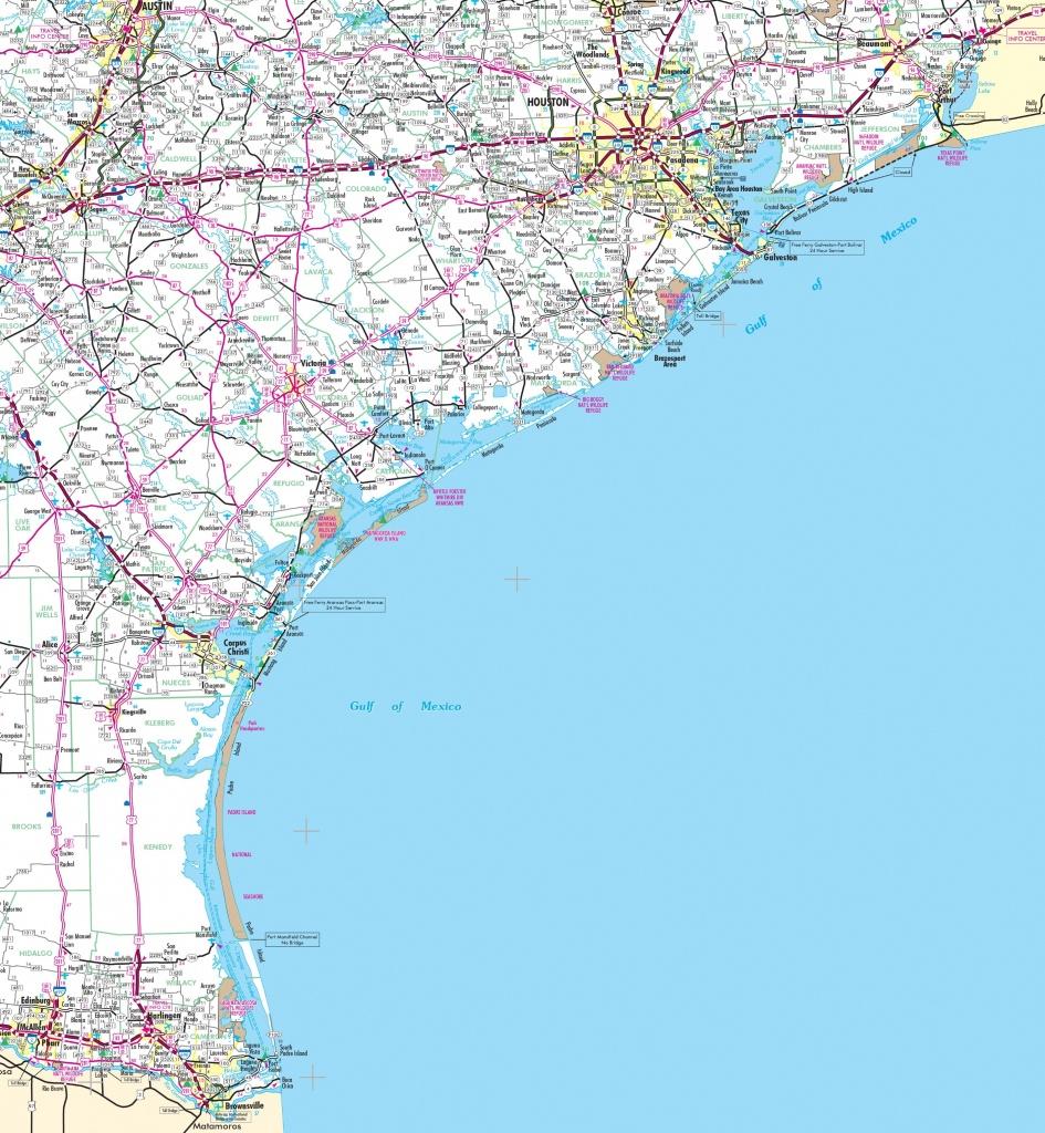 Map Of Texas Coast - Map Of Texas Coastline