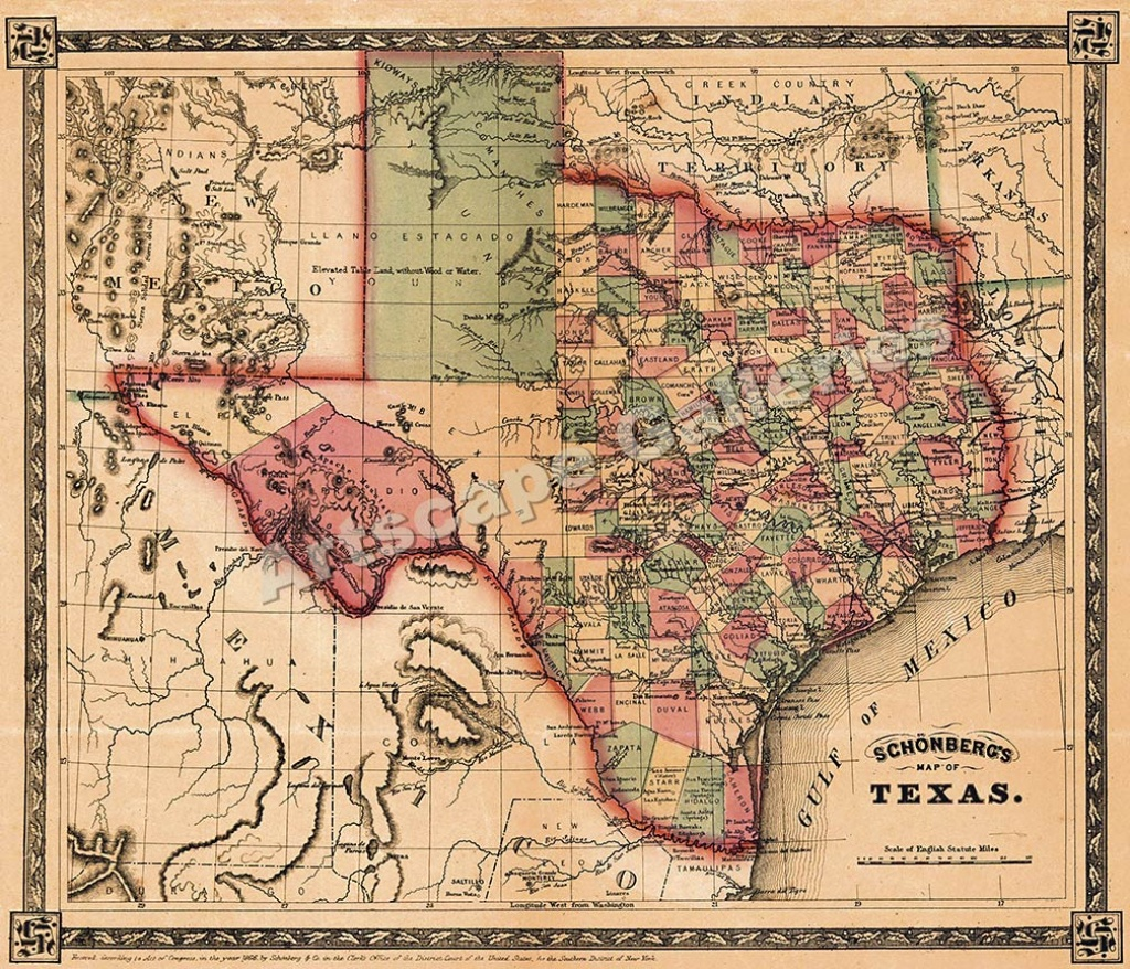Map Of Texas For Sale | Business Ideas 2013 - Vintage Texas Maps For Sale