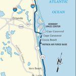 Map Of The Atlantic Coast Through Northern Florida. | Florida A1A - Florida East Coast Beaches Map
