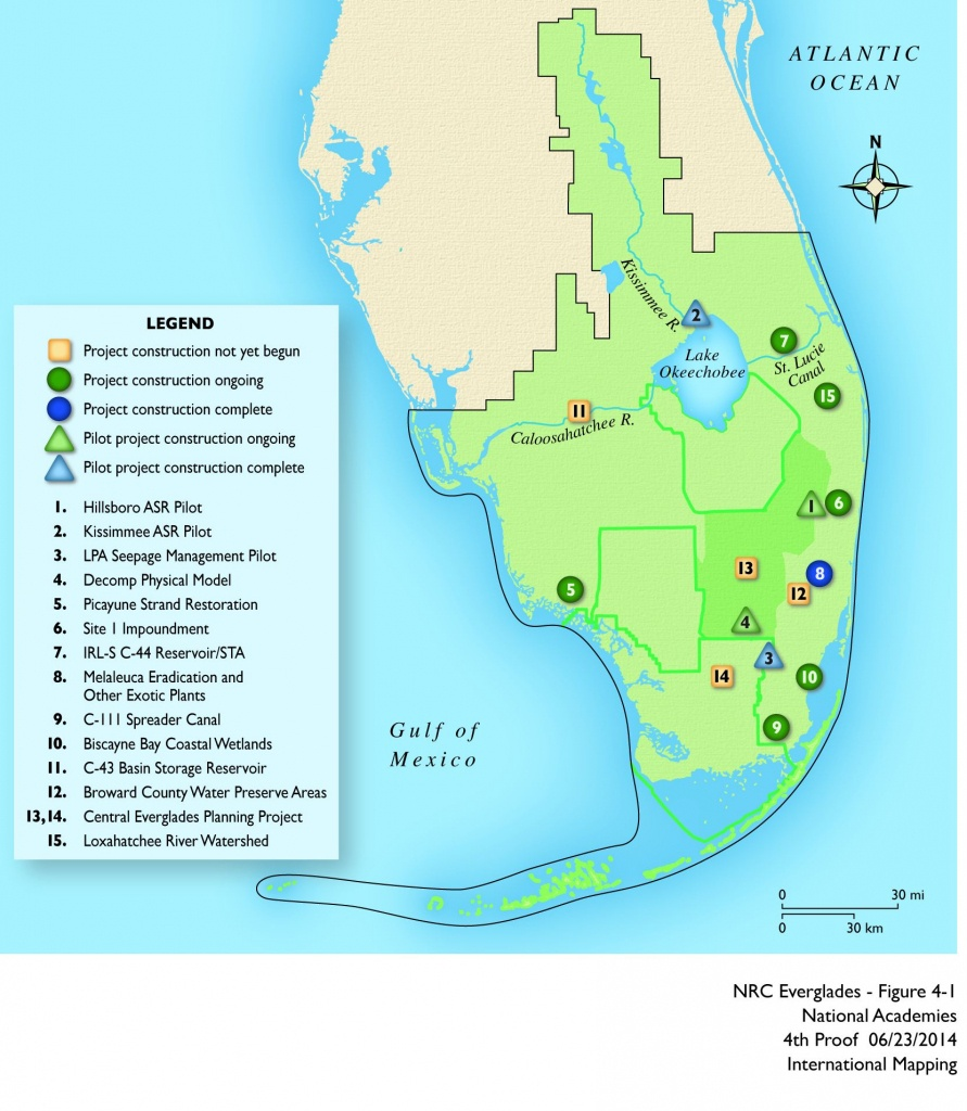 Map Of The Everglades And Travel Information   Download Free Map Of - Map Of Florida Showing The Everglades