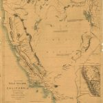 Map Of The Gold Regions Of California. | Library Of Congress   California Gold Mines Map