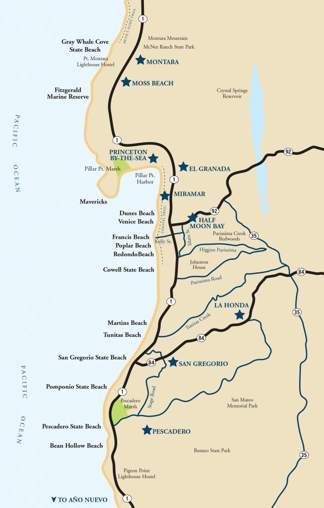 Map Of The Half Moon Bay Coastside | Visit Half Moon Bay - Northern California Beaches Map